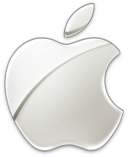 Apple Logo - Silver